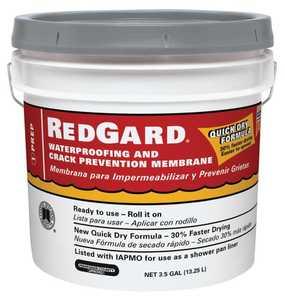 Custom Building Products LQWAF3 Redgard Waterproofing & Crack Membrane 3.5 Gal