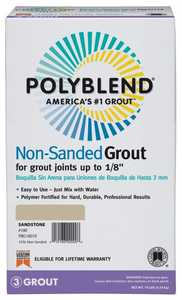 Custom Building Products PBG1110 Polyblend Grout Non-Sanded Snow White 10lb