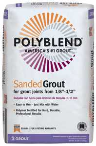 Custom Building Products PBG11525 Polyblend Grout Sanded Platinum 25lb