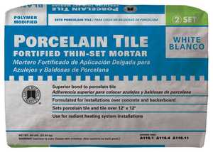 Custom Building Products PMW50 Mortar Thin-Set Porcelain Tile White 50lb