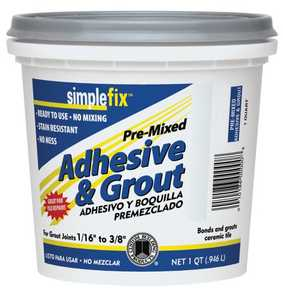 Custom Building Products TAGAQT Adhesive & Grout Premix Alabaster Qt