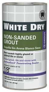 Custom Building Products WDG1-6 Dry Grout White 1lb