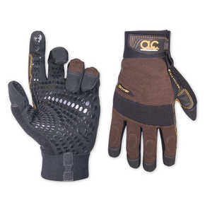 Custom Leathercraft 135XL X-Large Brown/Black Boxer Work Gloves