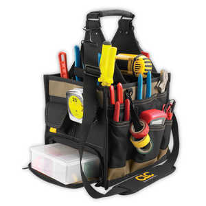 Custom Leathercraft 1528 23-Pocket 11-Inch Electrical And Maintenance Tool Carrier