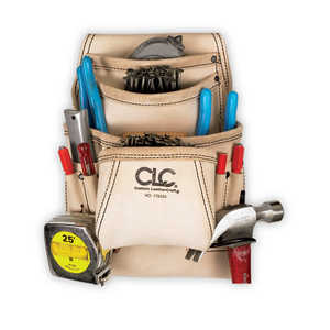 Custom Leathercraft 179354 10-Pocket Carpenters Tool And Nail Bag