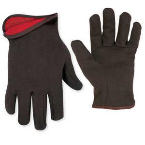 Custom Leathercraft 2015L Glove Brown Jersey W/Lining
