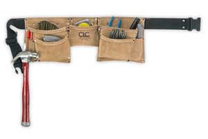 Custom Leathercraft I370X3 8-Pocket Suede Work Apron