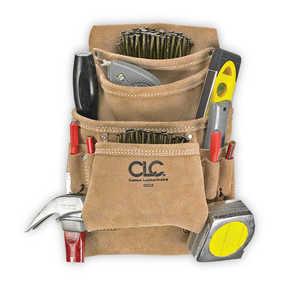 Custom Leathercraft I923X 10-Pocket Suede Carpenter Nail And Tool Bag