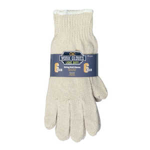 Custom Leathercraft PK2001 Glove Knit String Nat 6pk