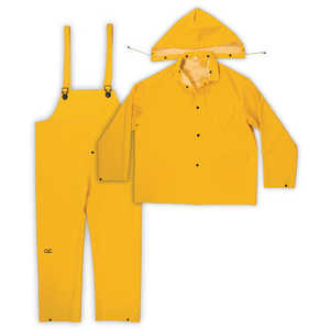 Custom Leathercraft R1012X Rain Suit .35mm 3pc Yellow 2xl