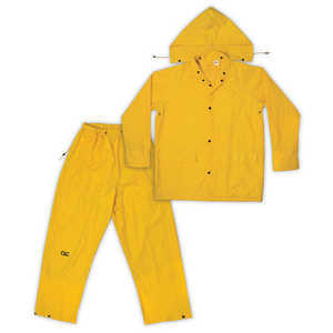 Custom Leathercraft R102X Rain Suit 3pc Poly Yellow Xl
