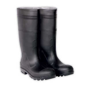 Custom Leathercraft R23011 Rain Boot Black PVC Size 11