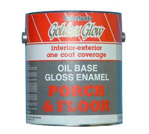 Davis Paint 0.14502 Oil Base Porch & Floor Gloss Enamel Enam White Gallon