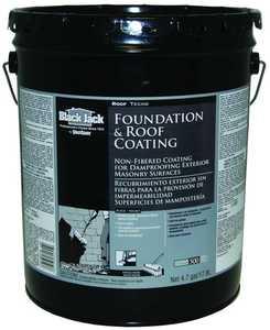 Gardner-Gibson 6025-9-30 Black Jack Roof Foundation Coating Non-Fibered 4.75 Gal