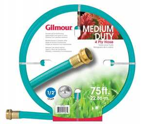 Gilmour 15-12075 Outdoor Hose 1/2x75 ft 4ply Reinforced Vinyl
