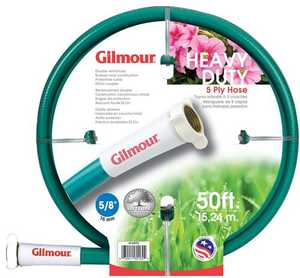 Gilmour 40-58050 Outdoor Hose 5/8x50 ft 5ply Rubber/Vinyl