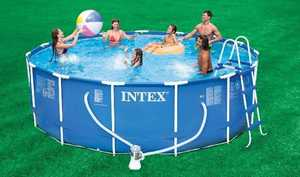 Intex Recreation 56945EG Pool Metal Frame 15 ft x48 in