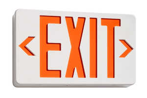 Juno Lighting NXPB3RWH Exit Sign Thermoplastic Led