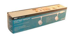 Juno Lighting R4K2501W White Two Roundback Track Light Kit 4 ft
