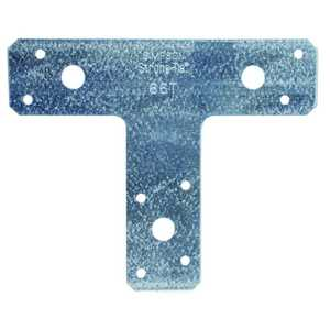 Simpson Strong-Tie 66T 6-Inch X 5-Inch 14-Gauge Galvanized T-Strap Tie