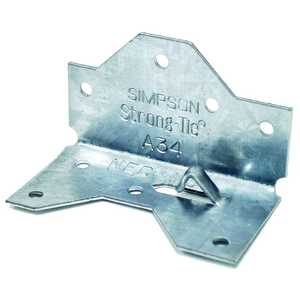 Simpson Strong-Tie A34Z 18-Gauge Zmax Galvanized Framing Angle