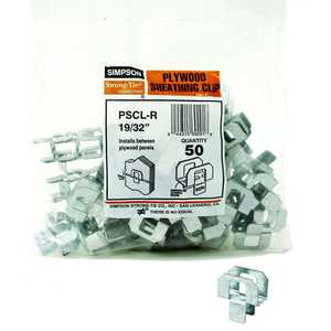 Simpson Strong-Tie PSCL 19/32-R50 Plywood Clip 19/32 Steel 50/Bag