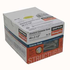 Simpson Strong-Tie SD9212R100 Screw Structural #9x21/2 in 100pc