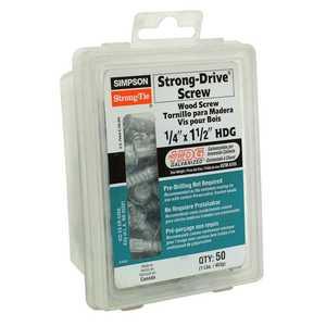 Simpson Strong-Tie SDS1/4X1.5-RC50 Wood Screw 1/4x11/2 50pk