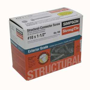 Simpson Strong-Tie SD10112R100 Screw Structural #10x11/2 in 100pc