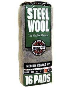 Homax Group 106605-06 Medium Course Steel Wool #2