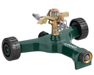 Orbit Irrigation 56186N Brass Impact Lawn Sprinkler On Aluminum Wheeled Base