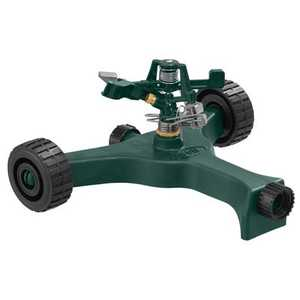 Orbit Irrigation 58148N Zinc Impact Lawn Sprinkler On Plastic Wheeled Base