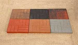 St. Vrain Block 10322 Square Stepping Stone 2x18x18 Brick Red