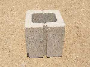 St. Vrain Block 21210 Concrete Block 8x8x8 Gray