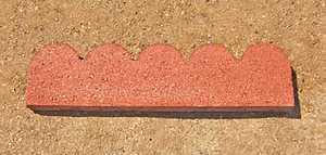 St. Vrain Block 11120 Scalloped Garden Border 2x6x24 Red