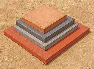 St. Vrain Block 10220 Square Stepping Stone 2x12x12 Red