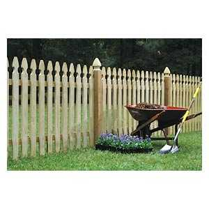 Universal Forest 14360 1x4 Gothic Picket Fence Section