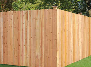 Sutherland Lumber 72 in X8 FENCE 72 in X 8 Fence Section Solid Treated 1x6 Dog Eared