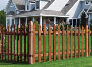Sutherland Lumber 48 in X8 FENCE 48 in X 8 Fence Section Spaced Treated 1x4 French Gothic