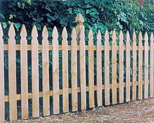 Universal Forest 8 ft x 4 ft 1x4 Gothic Picket Fence Section