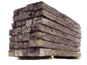 Sutherland Lumber 8 ft 8 ft #2 Used Railroad Tie