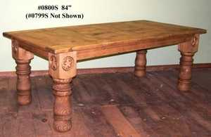 Rustic Pine Furniture 799S 72 In Log Leg W/Star Table