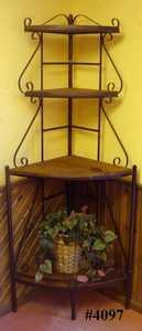 Rustic Pine Furniture 4097 Karens Corner Bakers Rack