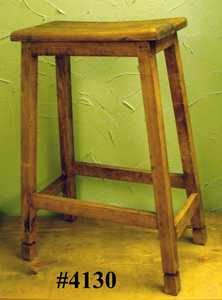 Rustic Pine Furniture 4130 Saddle Bar Chair