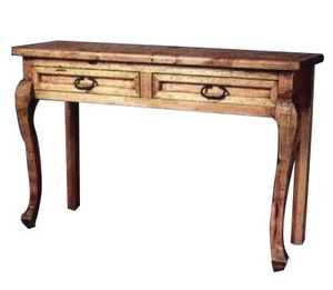 Rustic Pine Furniture 346 Sofa Table With 2 Drawers