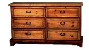 Rustic Pine Furniture 414 6 Drawer Dresser
