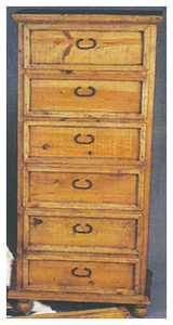 Rustic Pine Furniture 415 6 Drawer Lingerie Chest