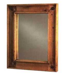 Rustic Pine Furniture 420 Iron Medallion Mirror