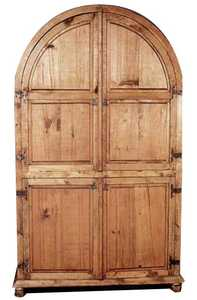 Rustic Pine Furniture 617 Arched Armoire