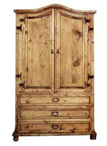 Rustic Pine Furniture 422 Curved Top Armoire
